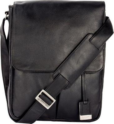 Bugatti Soledad Messenger Bag Leather Black - Bugatti Messenger Bags