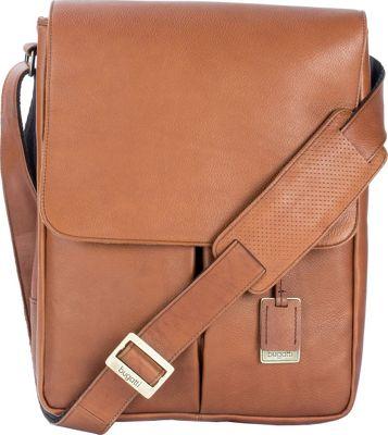 Bugatti Soledad Messenger Bag Leather Brown - Bugatti Messenger Bags