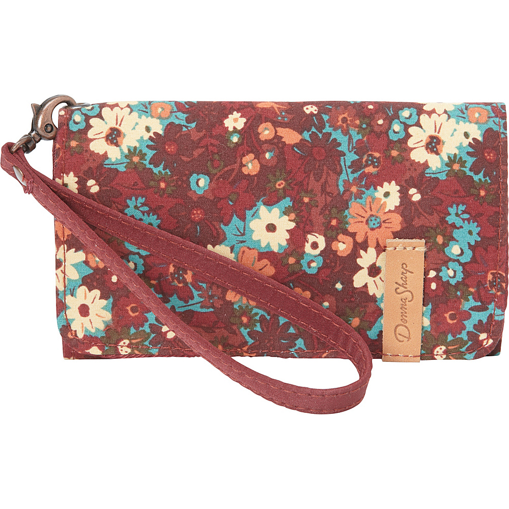Donna Sharp Cell Phone Wristlet Autumn Flower Donna Sharp Fabric Handbags