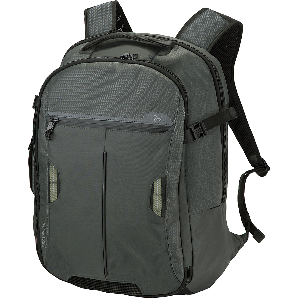 Travelon Anti-Theft Active Carry-on Backpack Charcoal - Travelon Laptop Backpacks