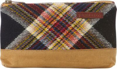 Pendleton Timberline Twill Zip Pouch Acadia Plaid - Pendleton Fabric Handbags