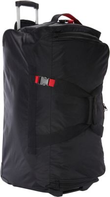 """Image of A. Saks 31"""" Expandable Trolley Duffel Black/Red - A. Saks Travel Duffels"""
