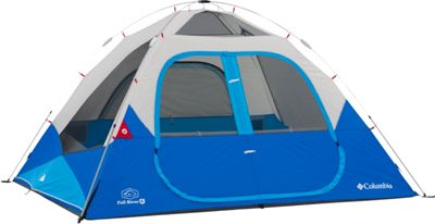 Columbia Sportswear Fall River 6 Person Instant Dome Tent Compass Blue - Columbia Sportswear Outdoor Accessories
