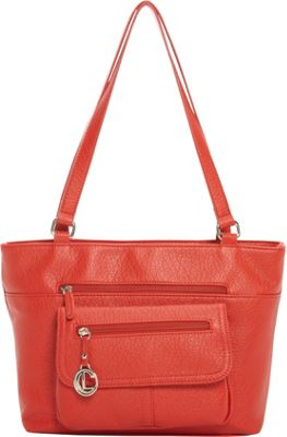 Aurielle-Carryland Saddle Up Tote Red - Aurielle-Carryland Manmade Handbags