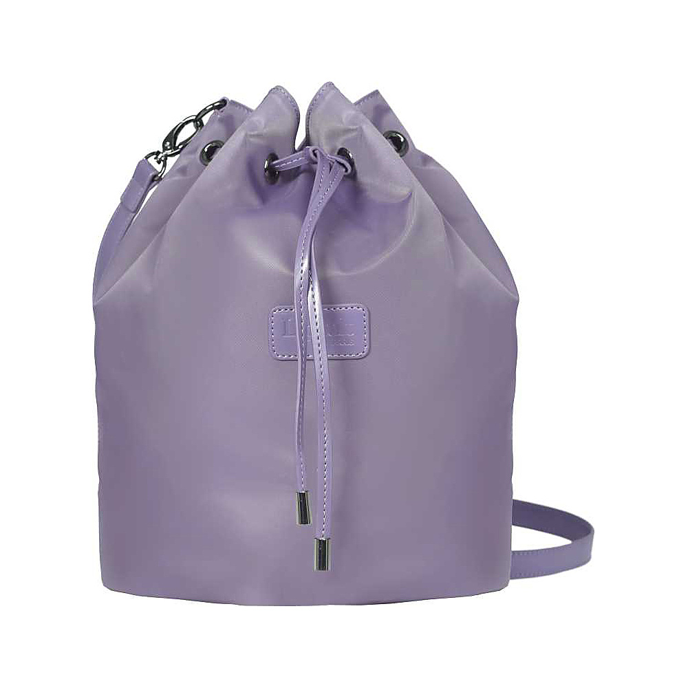 Lipault Paris Bucket Bag Medium Dark Lavender Lipault Paris Fabric Handbags