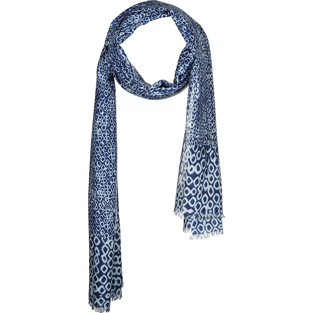 Kinross Cashmere Cala Geo Print Scarf Moonlight Multi Kinross Cashmere Hats Gloves Scarves