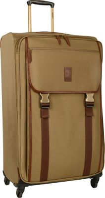 Timberland Reddington 29 inch Expandable Spinner Suitcase Military Olive - Timberland Softside Checked