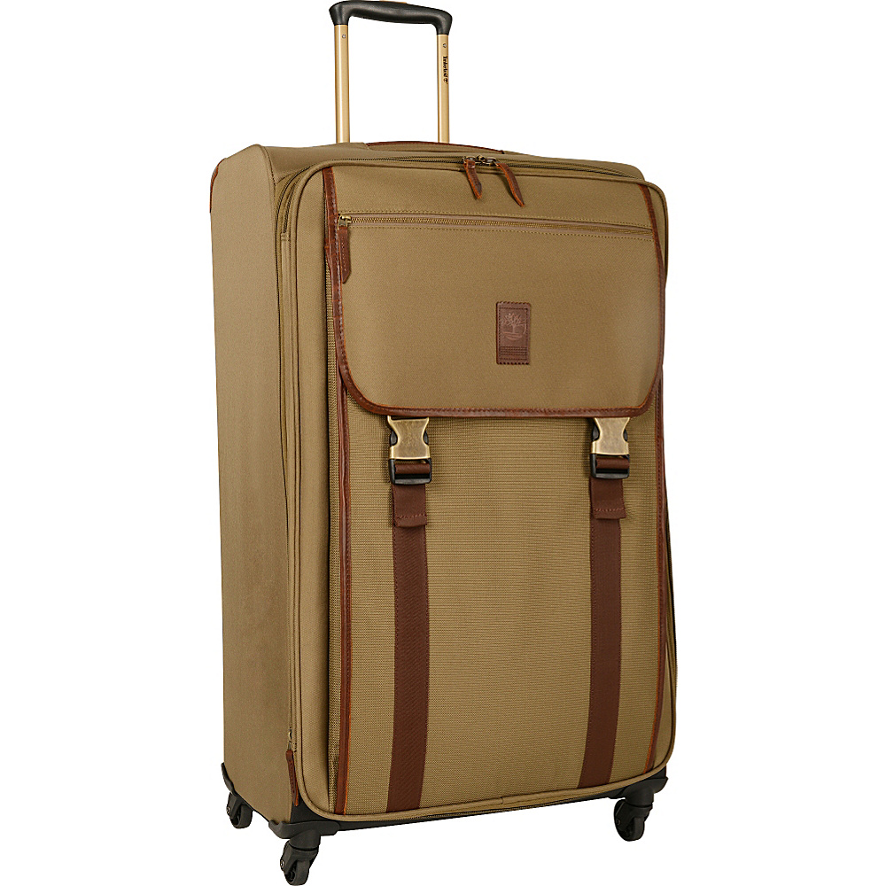 Timberland Reddington 29 Expandable Spinner Suitcase Military Olive Timberland Softside Checked