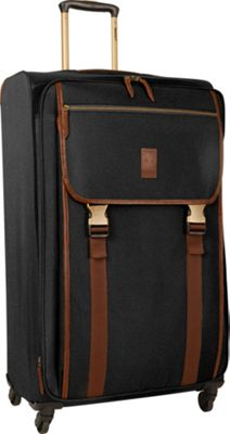 Timberland Reddington 29 inch Expandable Spinner Suitcase Black - Timberland Softside Checked