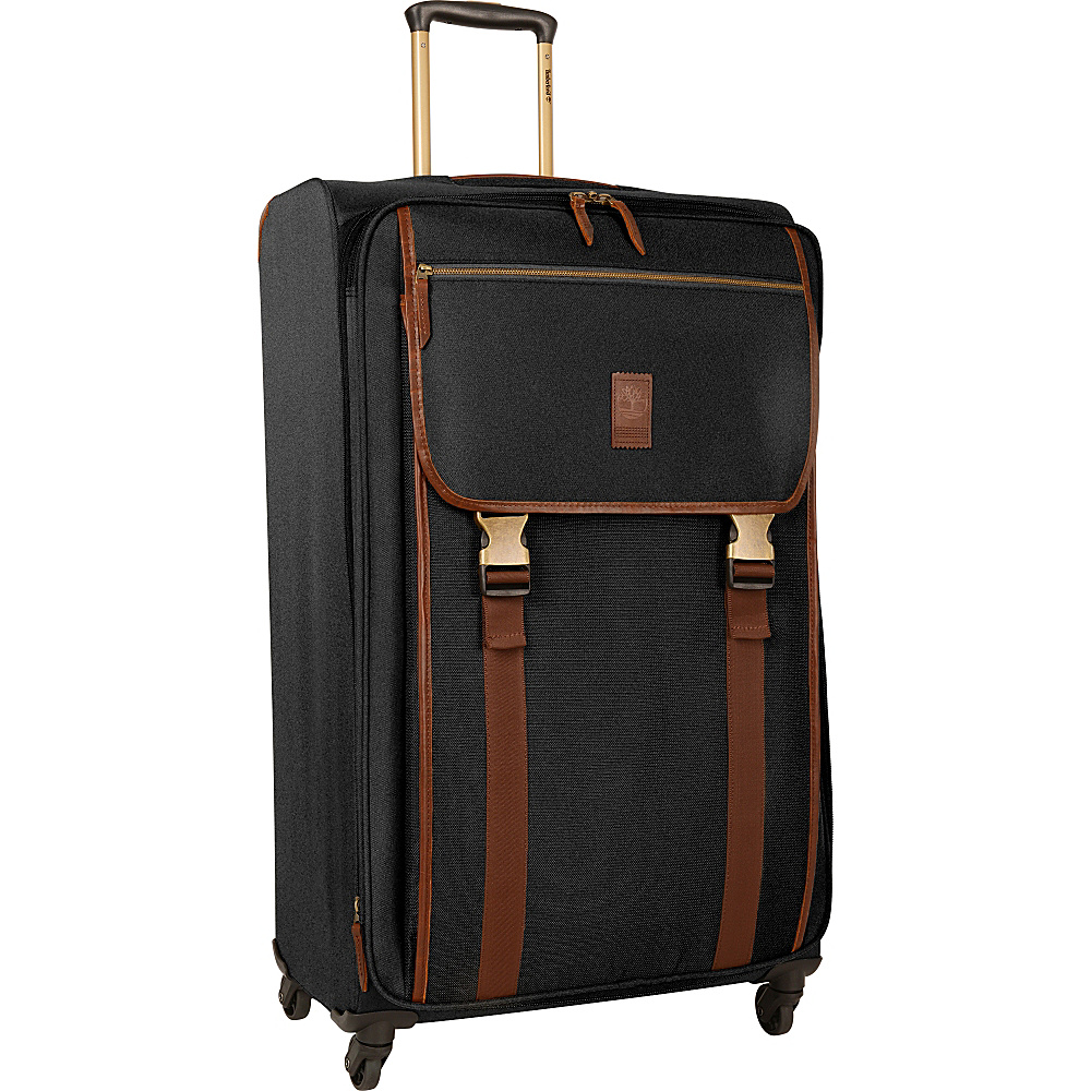 Timberland Reddington 29 Expandable Spinner Suitcase Black Timberland Softside Checked