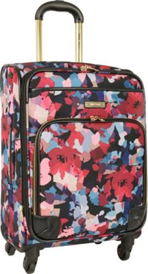Nine West Luggage Arieana 20 inch Expandable Spinner Multi Floral - Nine West Luggage Softside Carry-On
