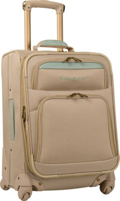 Tommy Bahama Tommy Bahama Bahama Mama 20 inch Expandable Spinner Champagne/Light Blue - Tommy Bahama Softside Checked