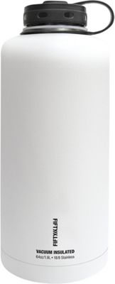 FIFTY/FIFTY Vacuum-Insulated Barrel Growler-64oz Winter White - FIFTY/FIFTY Hydration Packs and Bottles
