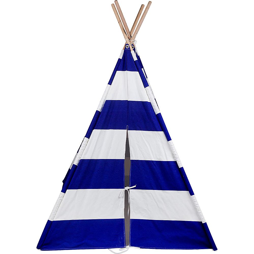 Wildkin Canvas Teepee Blue amp; White Striped Wildkin Travel Pillows Blankets