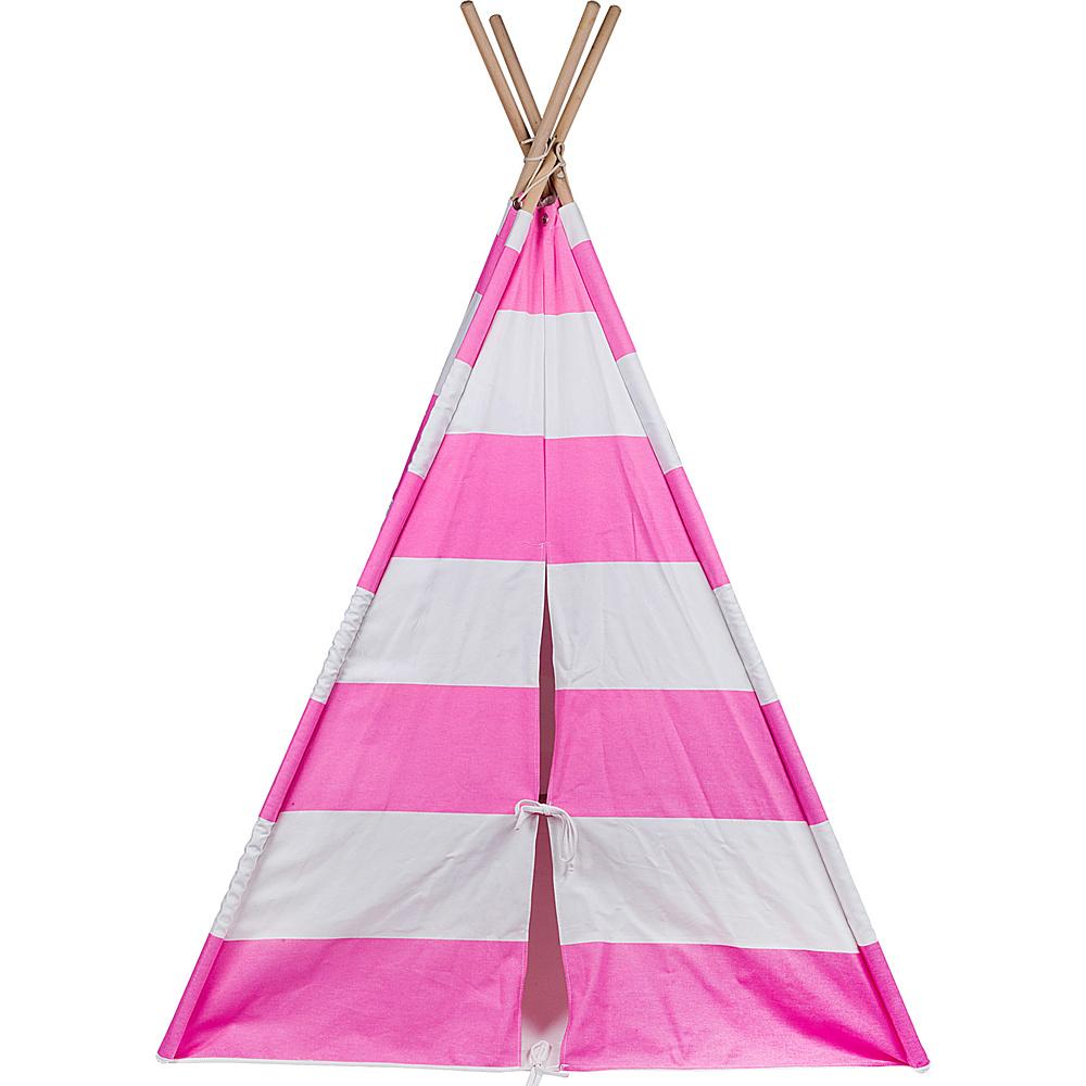 Wildkin Canvas Teepee Pink amp; White Stripes Wildkin Travel Pillows Blankets