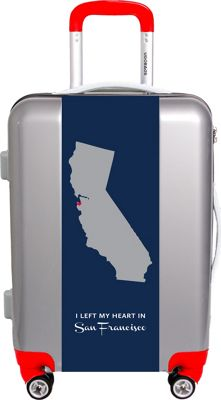 Ugo Bags My Heart Is In Sf By Nancy Ingersoll 22 inch Luggage Silver - Ugo Bags Softside Checked