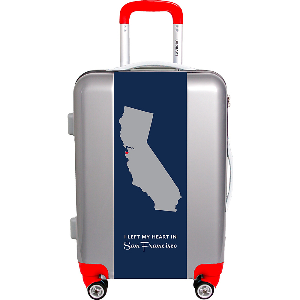 "Ugobags My Heart Is In Sf By Nancy Ingersoll 22"" Luggage Silver - Ugobags Softside Checked"
