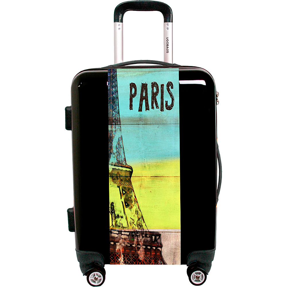 Ugo Bags Travel To Paris By Irena Orlov 26.5 Luggage Black Ugo Bags Hardside Checked