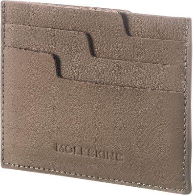 Moleskine Lineage Leather Card Wallet Taupe - Moleskine Women's Wallets