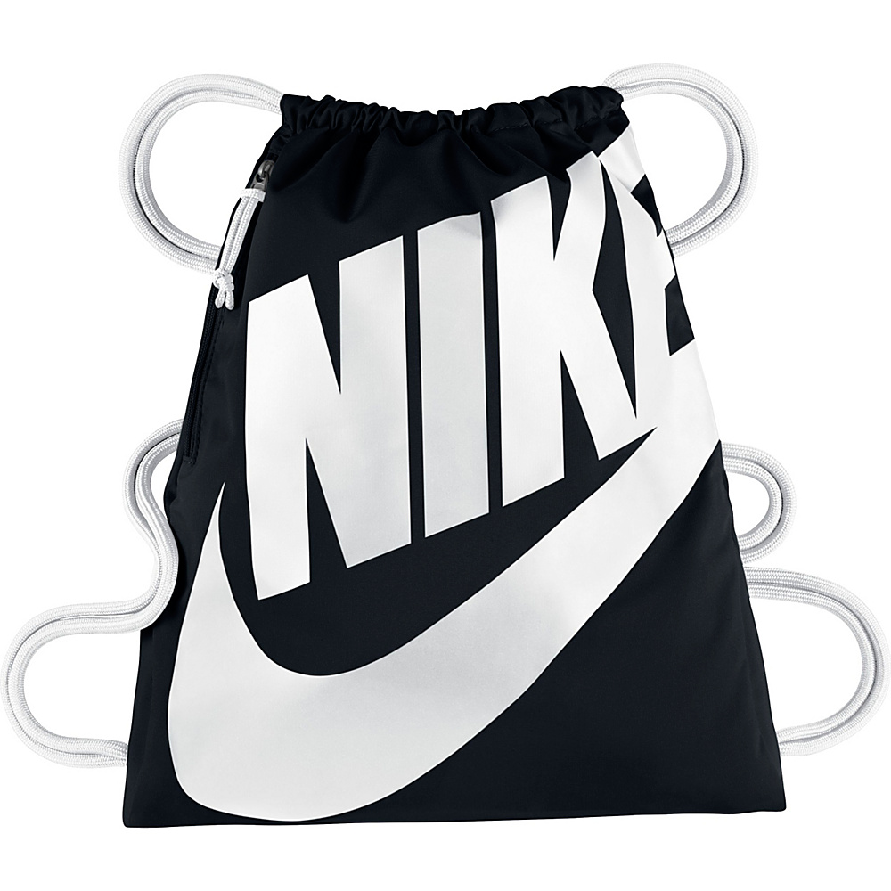 Nike Heritage Gymsack Black White White Nike Everyday Backpacks