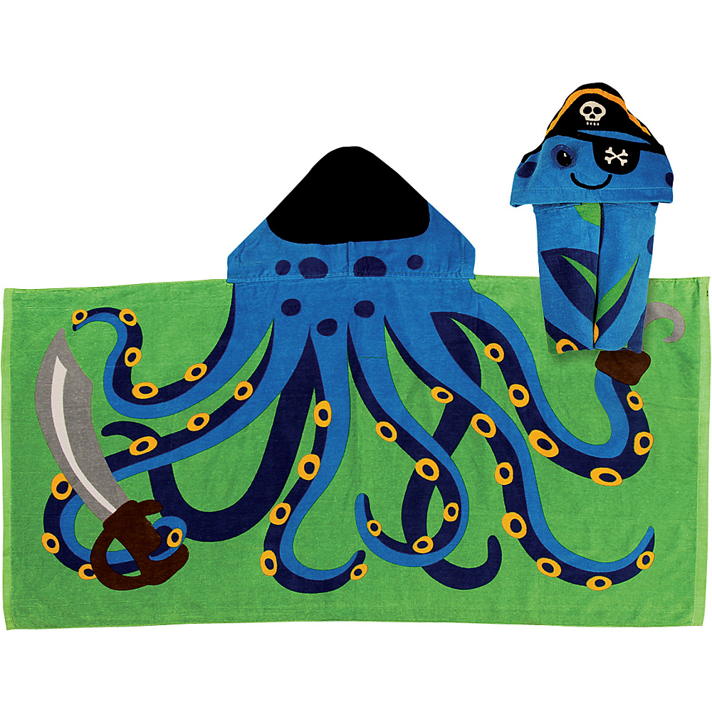Stephen Joseph Hooded Towel Octopus - Stephen Joseph Travel Health & Beauty - Travel Accessories, Travel Health & Beauty