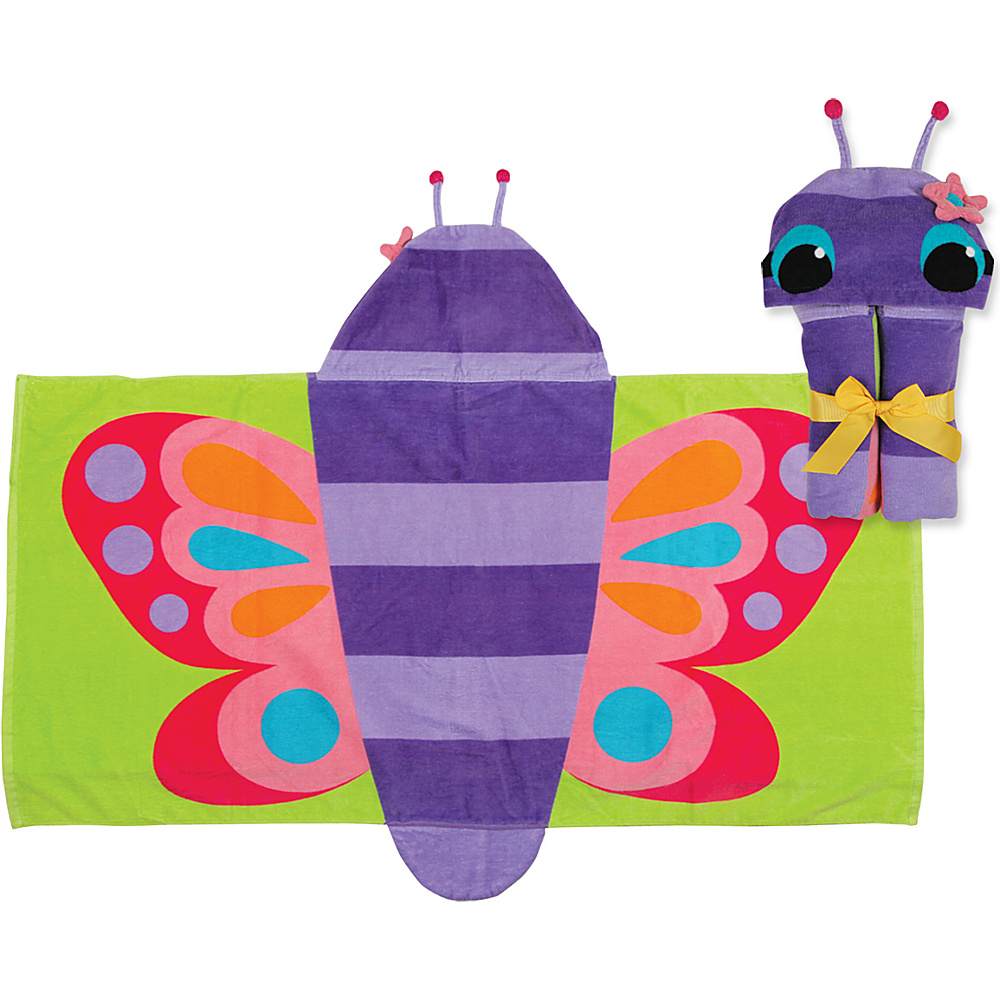 Stephen Joseph Hooded Towel Butterfly Stephen Joseph Travel Health Beauty