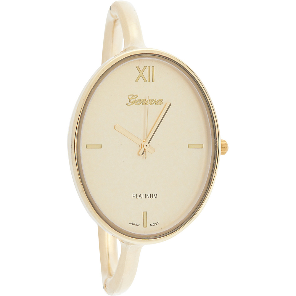 Samoe Bangle Watch Gold Oval Face Samoe Watches