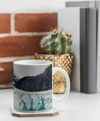 Deny Designs Leah Flores Coffee Mug Sky Blue - Glacier Bay National Park - Deny Designs Outdoor Accessories