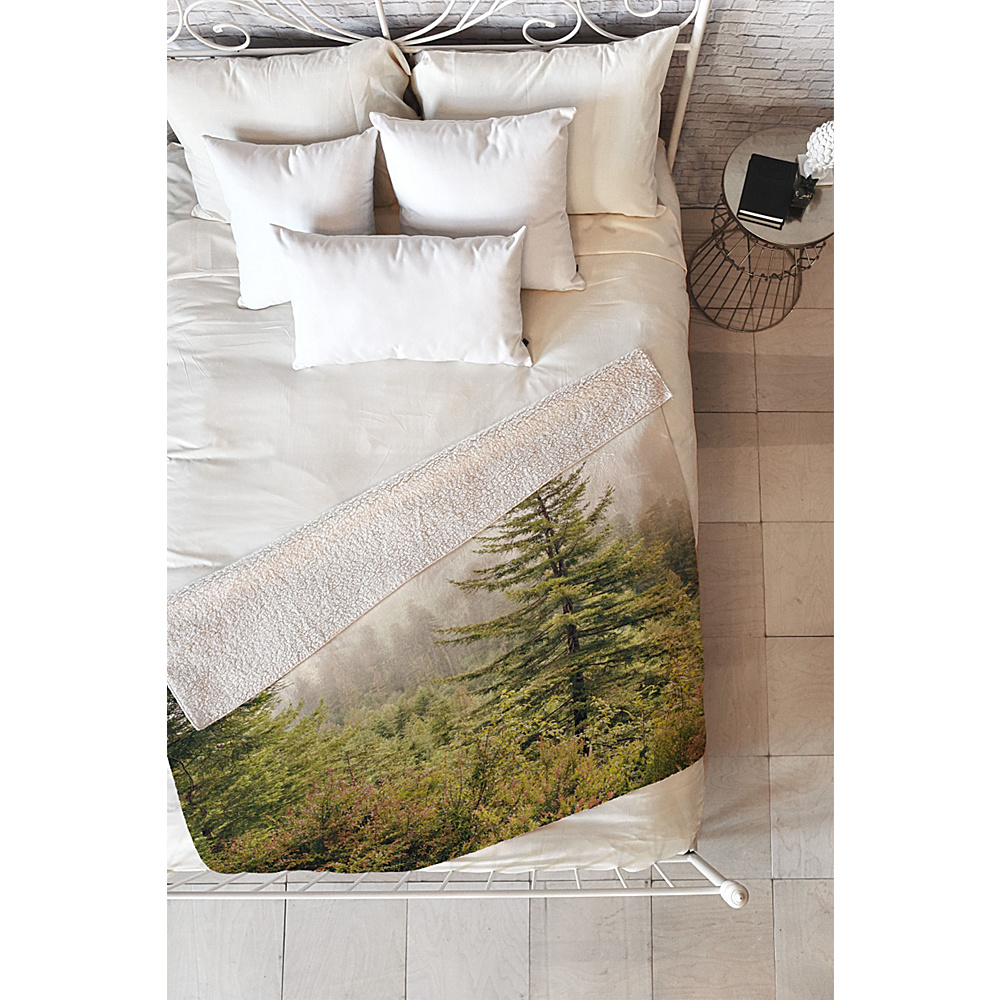 DENY Designs Catherine Mcdonald Sherpa Fleece Blanket Forest Green - Into the Mist - DENY Designs Travel Pillows & Blankets