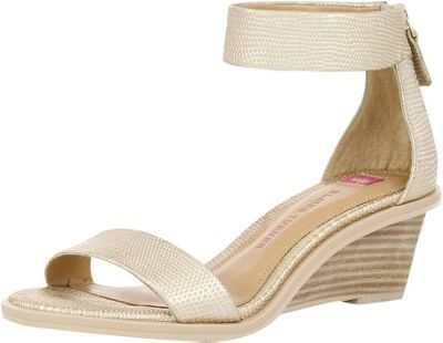Elaine Turner Zahara Lizard Wedge 7 - Gold Lizard - Elaine Turner Women's Footwear