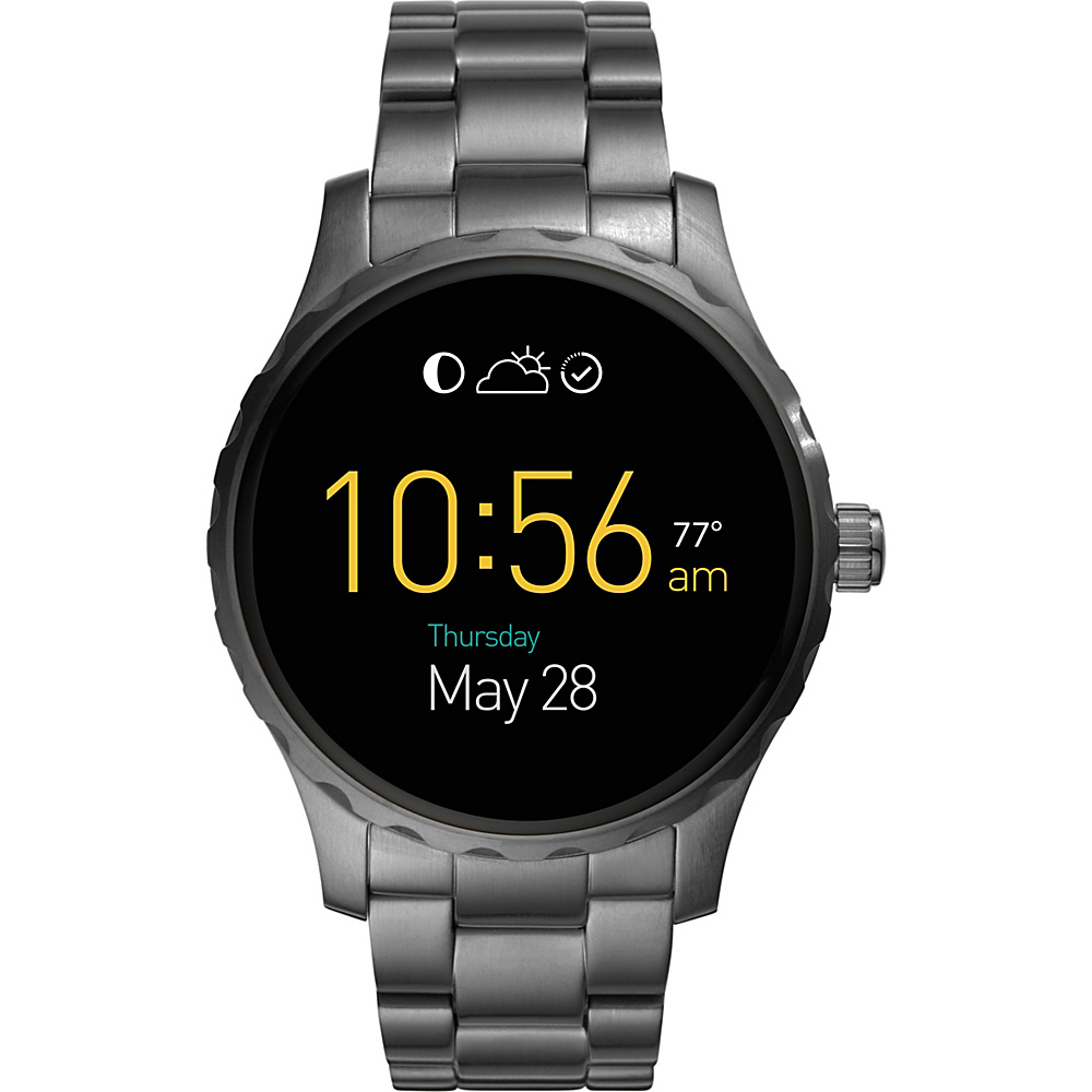 Fossil Q Marshal Digital Display Stainless Steel Touchscreen Smartwatch Gunmetal - Fossil Wearable Technology - Technology, Wearable Technology