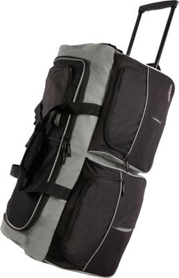 Pacific Coast 30 inch Large Rolling Duffel Bag Black - Pacific Coast Rolling Duffels