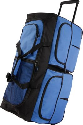 Pacific Coast 30 inch Large Rolling Duffel Bag Cobalt - Pacific Coast Rolling Duffels