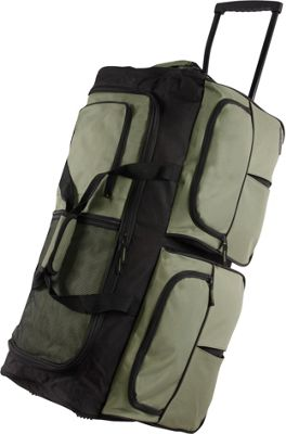 Pacific Coast 30 inch Large Rolling Duffel Bag Olive - Pacific Coast Rolling Duffels