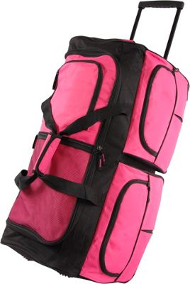 Pacific Coast 30 inch Large Rolling Duffel Bag Pink - Pacific Coast Rolling Duffels