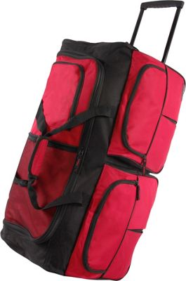 Pacific Coast 30 inch Large Rolling Duffel Bag Red - Pacific Coast Rolling Duffels
