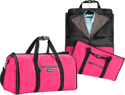 Image of biaggi Hangeroo Garment Bag and Duffel Pink - biaggi Garment Bags
