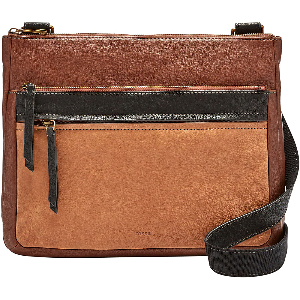 Fossil Corey Large Crossbody Multi Brown - Fossil Leather Handbags - Handbags, Leather Handbags