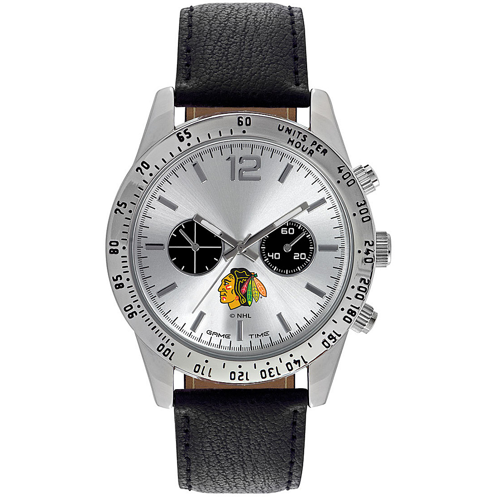 Game Time Mens Letterman-NHL Watch Chicago Blackhawks - Game Time Watches