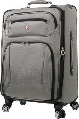 Wenger Travel Gear Zurich 24 inch Spinner Pewter - Wenger Travel Gear Softside Checked