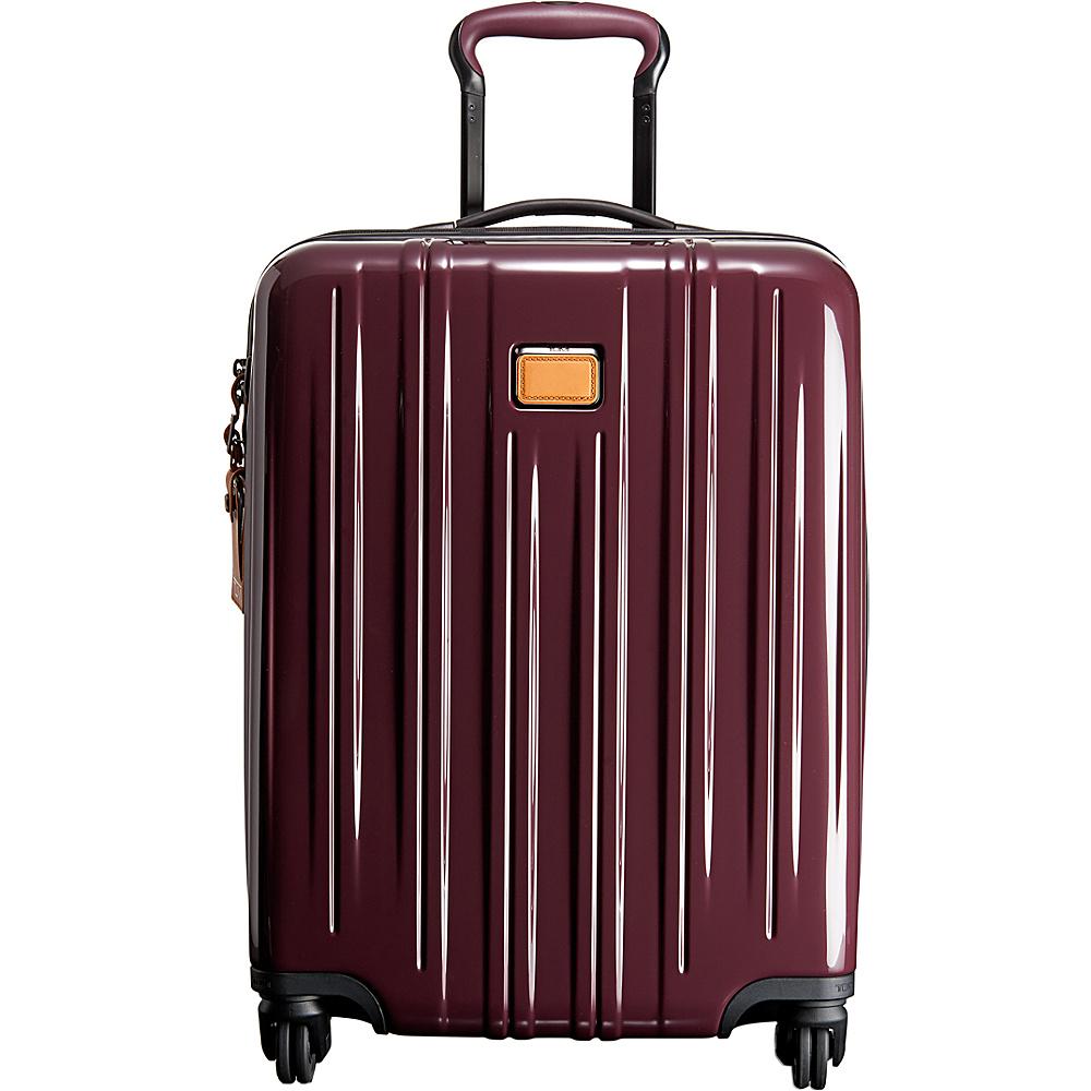 Tumi V3 Continental Carry On Merlot - Tumi Hardside Luggage