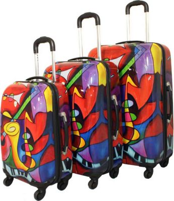 Dejuno Jazz Medley 3-Piece Lightweight Hardside Luggage Set Jazz - Dejuno Luggage Sets