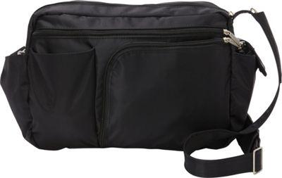 BeSafe by DayMakers RFID Smart Traveler 13 LX Shoulder Bag Black - BeSafe by DayMakers Fabric Handbags