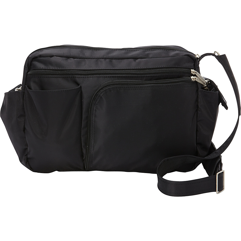 BeSafe by DayMakers RFID Smart Traveler 13 LX Shoulder Bag Black BeSafe by DayMakers Fabric Handbags
