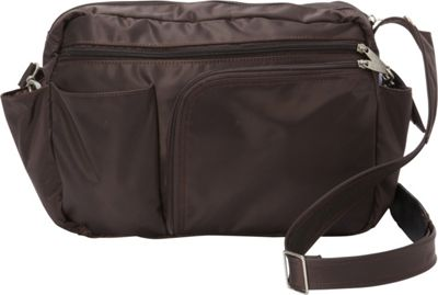 BeSafe by DayMakers RFID Smart Traveler 13 LX Shoulder Bag Espresso - BeSafe by DayMakers Fabric Handbags