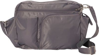 BeSafe by DayMakers RFID Smart Traveler 13 LX Shoulder Bag Pewter - BeSafe by DayMakers Fabric Handbags
