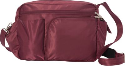 BeSafe by DayMakers RFID Smart Traveler 13 LX Shoulder Bag Wine - BeSafe by DayMakers Fabric Handbags