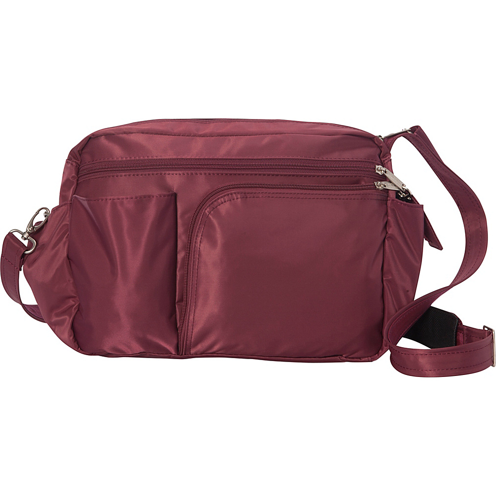 BeSafe by DayMakers RFID Smart Traveler 13 LX Shoulder Bag Wine BeSafe by DayMakers Fabric Handbags