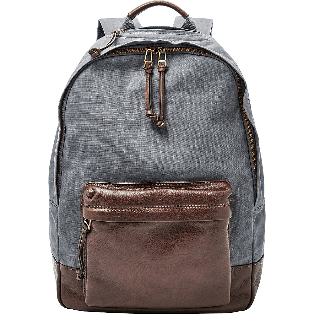 Fossil Estate Backpack Grey - Fossil Laptop Backpacks - Backpacks, Laptop Backpacks