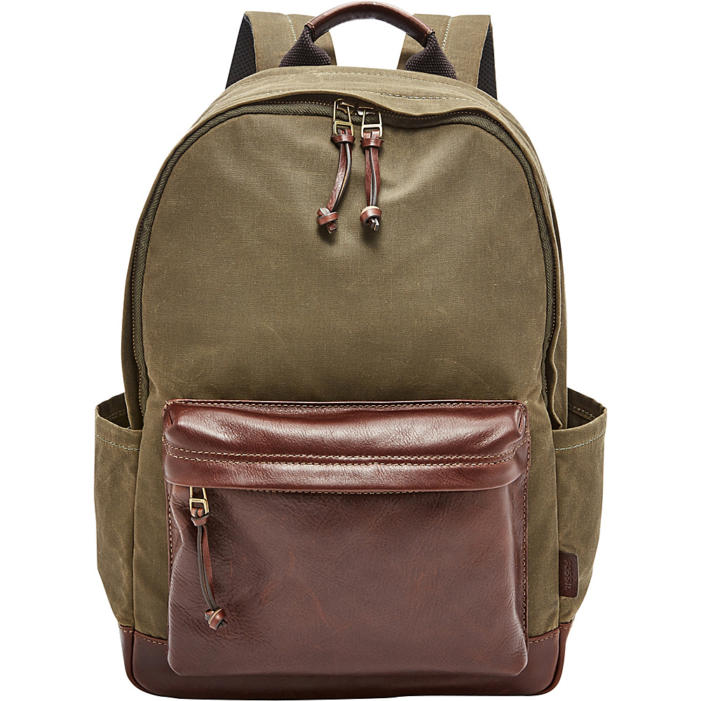 Fossil Estate Backpack Green - Fossil Leather Handbags - Handbags, Leather Handbags